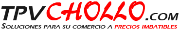 TPVCHOLLO.com es la tienda online especializada en la venta de TPV y accesorios para TPV a precios muy economicos: Pantallas t�ctiles, impresoras de tickets, cajones portamonedas, impresoras de etiquetas, lectores de c�digos de barras, TPVs, Detectores de billetes, contadores de billetes, accesorios para tpv, recambios para tpv, capturadoras de firmas