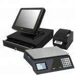 Pack TPV Táctil Posiflex KS7215, balanza, cajón y impresora de 80mm