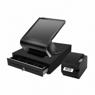 Pack TPV Táctil Toshiba TCxWave 6140-A3R, cajón portamonedas y impresora de 80mm
