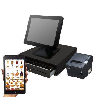 Pack TPV Táctil DigiPOS Toccare D510, cajón, impresora 80mm Epson y comandero