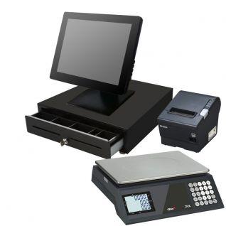 Pack TPV Táctil DigiPOS Toccare D510, balanza, cajón, impresora 80mm Epson