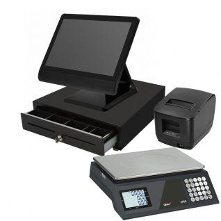 TPV Táctil KT90 Panoramic, balanza, cajón e impresora